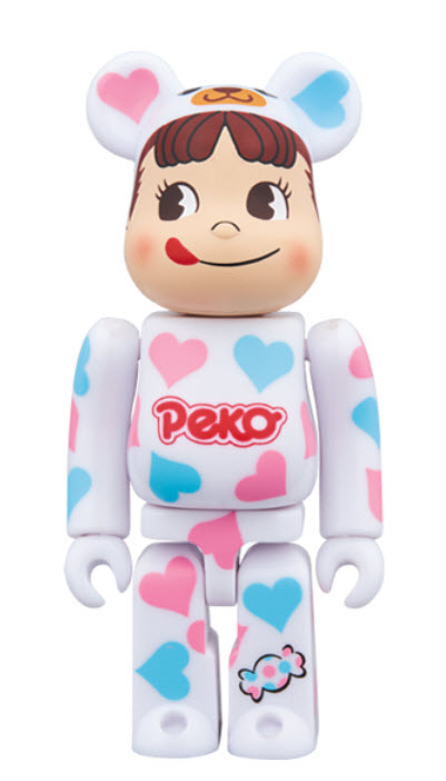 Bearbrick Peko-chan [Heart Costume] (100%)
