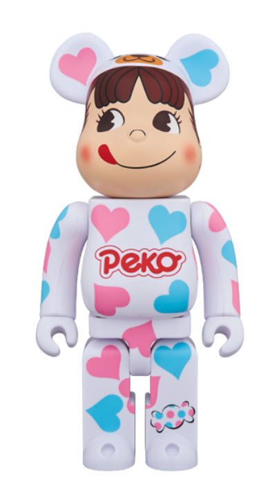 Bearbrick Peko-chan [Heart Costume] (400%)