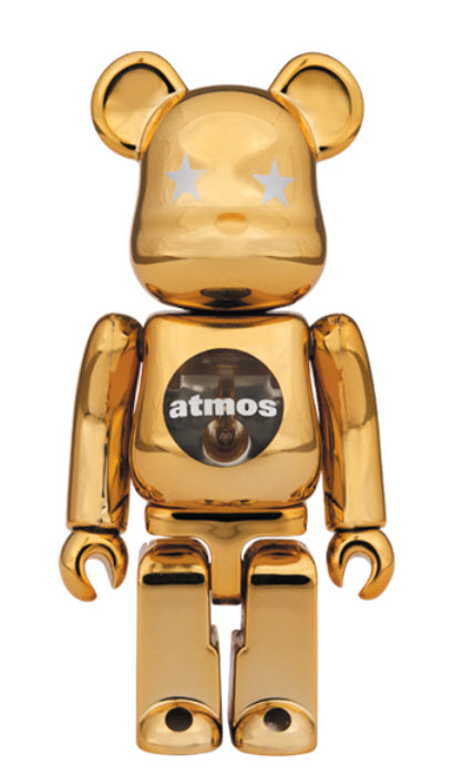 Bearbrick atmos [Gold Chrome] (100%)