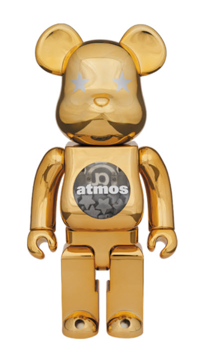 Bearbrick atmos [Gold Chrome] (400%)