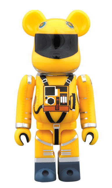 Bearbrick 2001: A Space Odyssey [Yellow Space Suit] (100%)