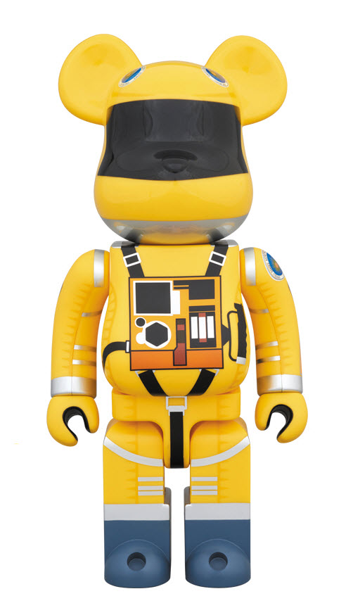 Bearbrick 2001: A Space Odyssey [Yellow Space Suit] (400%)